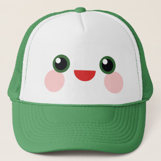 Kawaii Green Eyes Sweet Happy Face Delight Trucker Hat