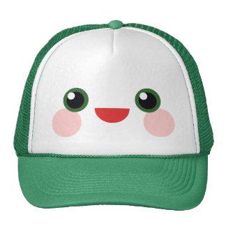 Kawaii Green Eyes Sweet Happy Face Delight Trucker Hat