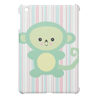 kawaii green monkey iPad mini covers