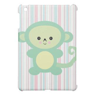kawaii green monkey iPad mini covers