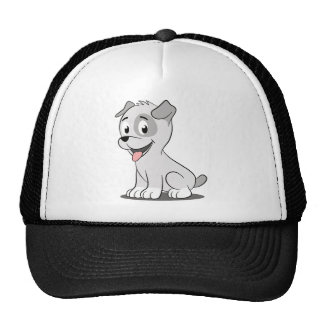 Kawaii grey puppy trucker hat