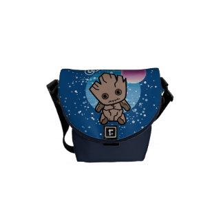 Kawaii Groot In Space Courier Bag