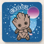 Kawaii Groot In Space Drink Coaster