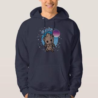 Kawaii Groot In Space Hoodie