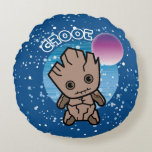 Kawaii Groot In Space Round Pillow