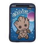 Kawaii Groot In Space Sleeve For iPad Mini