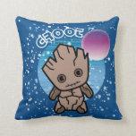 Kawaii Groot In Space Throw Pillow