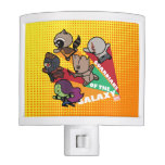 Kawaii Guardians of the Galaxy Group Jump Night Light