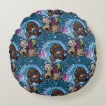 Kawaii Guardians of the Galaxy Pattern Round Pillow