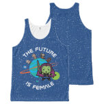Kawaii Guardians of the Galaxy Planet Graphic All-Over-Print Tank Top