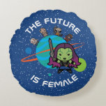 Kawaii Guardians of the Galaxy Planet Graphic Round Pillow