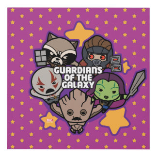 Kawaii Guardians of the Galaxy Star Graphic Panel Wall Art