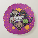 Kawaii Guardians of the Galaxy Star Graphic Round Pillow