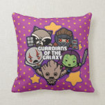 Kawaii Guardians of the Galaxy Star Graphic Throw Pillow