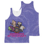Kawaii Guardians of the Galaxy Swirl Graphic All-Over-Print Tank Top
