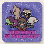 Kawaii Guardians of the Galaxy Swirl Graphic Beverage Coaster