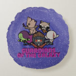 Kawaii Guardians of the Galaxy Swirl Graphic Round Pillow