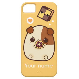 Kawaii guinea pig and cute biscuit - Personalized iPhone 5 Cover