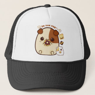 Kawaii guinea pigs with cute bread and biscuits trucker hat