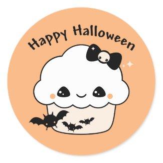 Kawaii Halloween Cupcake sticker