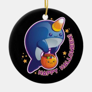 Kawaii Halloween Narwhal Ornaments