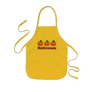 Kawaii Halloween Pumpkins Kids Apron