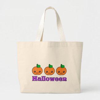 Kawaii Halloween Pumpkins Tote Bag bag
