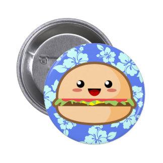 Kawaii Hamburger Button