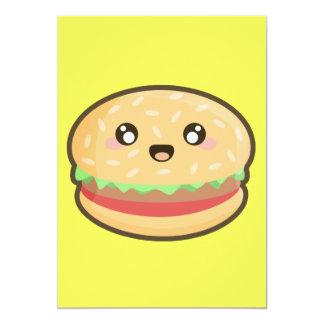 Kawaii hamburger card