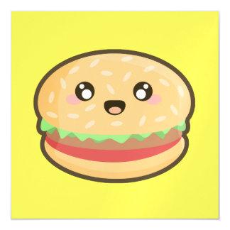 Kawaii hamburger magnetic card