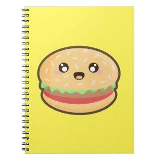 Kawaii hamburger notebook