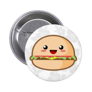 Kawaii Hamburger Pinback Button