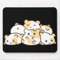 Kawaii Hamster Pile Mouse Pad