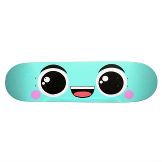 Kawaii Happy Anime Faced Aqua Skate Decks