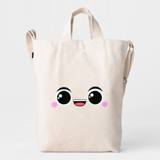 Kawaii Happy Anime Faced Duck Bag