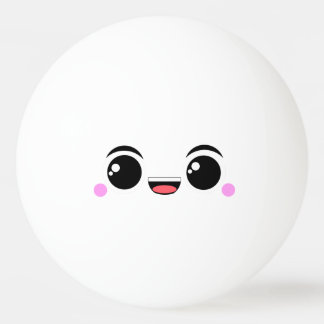 Kawaii Happy Anime Faced Ping-Pong Ball