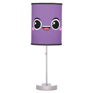 Kawaii Happy Anime Faced Purple Desk Lamp
