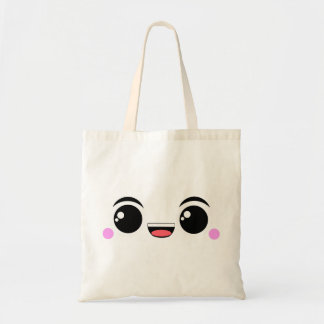 Kawaii Happy Anime Faced Tote Bag