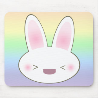 KAWAII HAPPY BUNNY MOUSE PAD