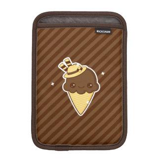Kawaii Happy chocolate Ice cream cone iPad Mini Sleeve