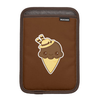 Kawaii Happy chocolate Ice cream cone Sleeve For iPad Mini