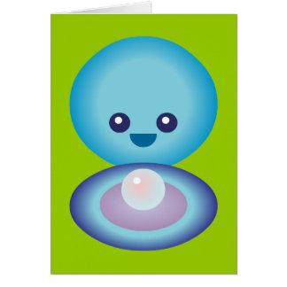 Kawaii Happy Clam Greeting Card