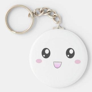 Kawaii happy face keychain