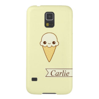 Kawaii Happy vanilla Ice cream cone personlized Galaxy S5 Case