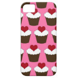 Kawaii heart cute girly cupcake hearts pattern iPhone 5 cases