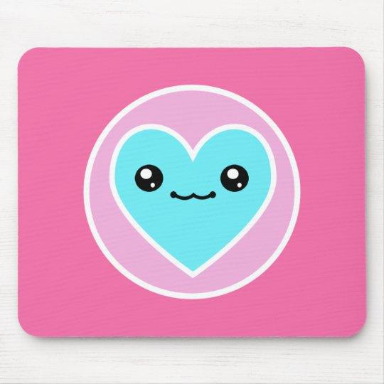 Kawaii Heart Mousepad
