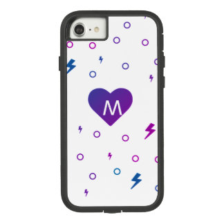 Kawaii Heart Pattern Monogram Case-Mate Tough Extreme iPhone 7 Case