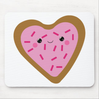 Kawaii Heart Shaped Cookie Mouse Pad