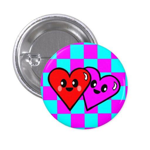 KAWAII HEARTS VALENTINE'S DAY CHECKERBOARD PIN