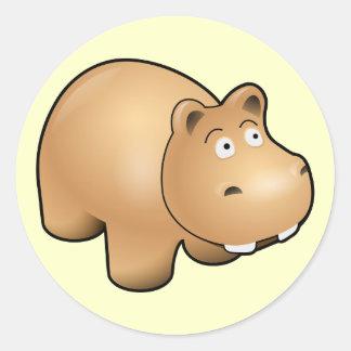 Kawaii Hippo Sticker